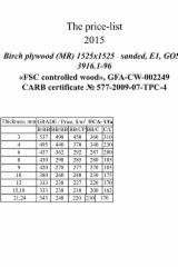 Plywood Birch Europe For Sale - фанера береза