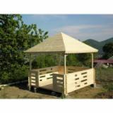 Garden Products - Spruce (Picea abies) - Whitewood, Kiosk - Gazebo