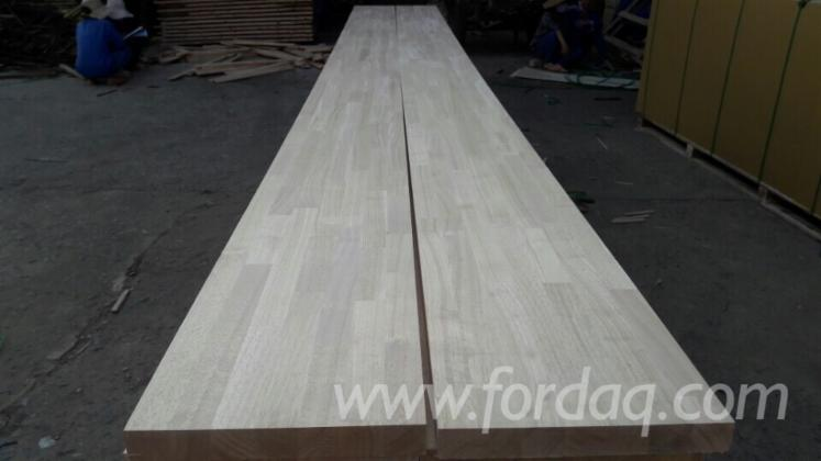 Joined Hardwood Laminated Board ~ Hevea wood laminated finger joined rubber