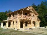 Drvena Kuća - Polugotove Drvene Grede Za Prodaju - Jela -Bjelo Drvo