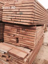 Tropical Wood  Sawn Timber - Lumber - Planed Timber - Iroko Rough Sawn Timber