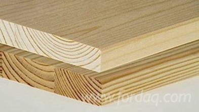 1-laags-Massief-Houten-Paneel--Gewone-Spar---Vurenhout