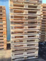 Pallets – Packaging - Used euro-pallets of 1 sort
