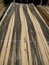 Fordaq wood market - Natural Veneer, White Ebony, Flat cut, figured