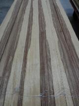 刨切单板  - Fordaq 在线 市場 - 天然木皮单板, 切四等分,华纹