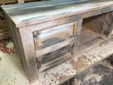 Art & Crafts/Mission Living Room Furniture - Solid oak TV cabinet