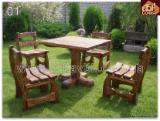 Garden Furniture - Design, Pine (Pinus sylvestris) - Redwood, Garden Sets, 10 pieces per month