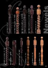 Woodturnings - Turned Wood - Spiral Newel and Baluster