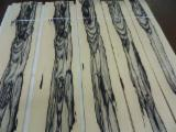 Sliced Veneer - Ebony (Ebène), Flat cut, figured, Natural Veneer