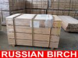 Hardwood  Sawn Timber - Lumber - Planed Timber - Russian Birch: Frame grade S4S (PAR) 24 x 45/70/95/120/145 mm