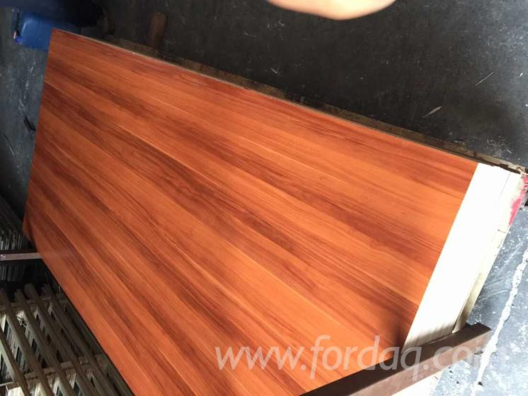 Construction Grade Particle Board ~ Hdf door skin melamine laminated