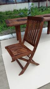 Chair without armrests (folding) for terrace and garden. Thermo Ash / Thermo Carpinus