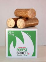 Firelogs - Pellets - Chips - Dust – Edgings - Wood briquettes 10 kg in PE Foil or carton boxes