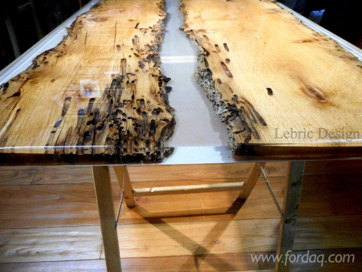 wood and epoxy resin table. Black Bedroom Furniture Sets. Home Design Ideas