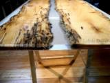 Living Room Furniture - Wood and Resin Contemporary Table