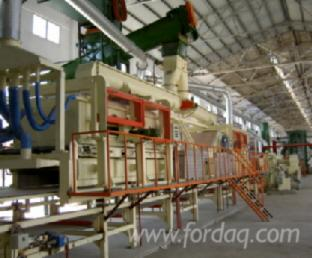 Particle-board-production-line-for