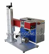 RICO Woodworking Machinery - Fiber Laser Metal Marking Machine With Rotary Attachment