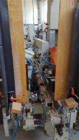 LINE FOR CUTTING, SANDING, CHAMFERING AND BRUSHING CHAIR LEGS
