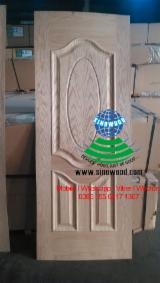 HDF - 915*2135mm Red oak hdf door skin, red oak mdf door skin