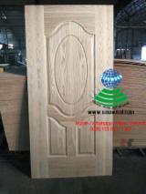 White oak hdf door skin, white oak mdf door skin
