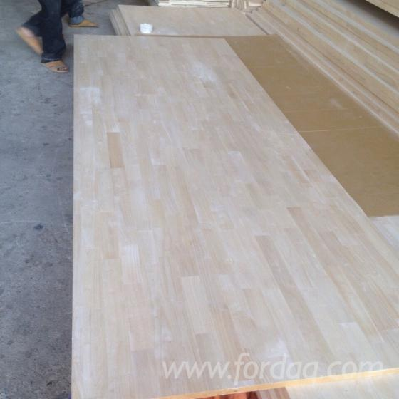 Joined Hardwood Laminated Board ~ Rubber wood finger joined board