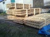 Hardwood  Logs - 8 - 14  cm, Oak (European),  Conical shaped round wood