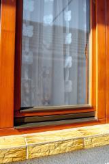 Windows Finished Products - Meranti, Dark Red Windows in Romania