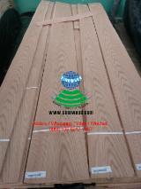 Sliced Veneer - Oak (American Red - Origin: America), Flat cut, plain, Natural Veneer