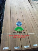 Sliced Veneer - Teak Flat Cut, Plain Natural Veneer China