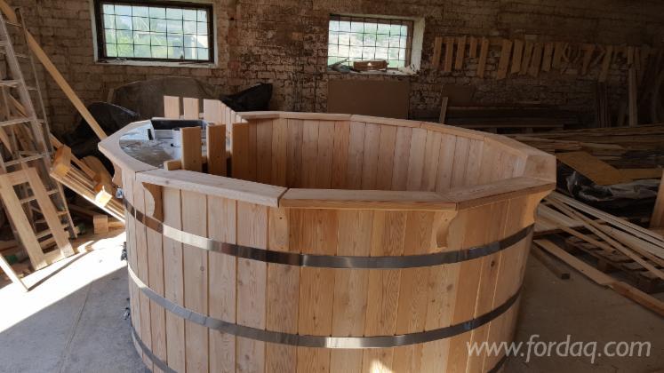 Legno vasca idromassaggio in legno di larice o abete rosso - Vasche da bagno esterne ...