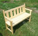 Garden Furniture - Traditional Spruce (Picea Abies) - Whitewood Garden Benches in Romania