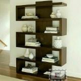 Indonesia Living Room Furniture - Teak Minimalist Partition Display Cabinet