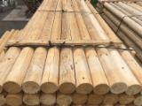 Softwood Logs for sale. Wholesale Softwood Logs exporters - Spruce poles and posts. Machine rounded and dry.