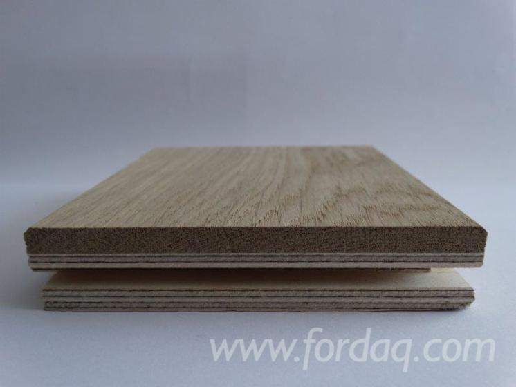 Layered Oak Oiled Floor 15 x 100 x 500-1400 mm