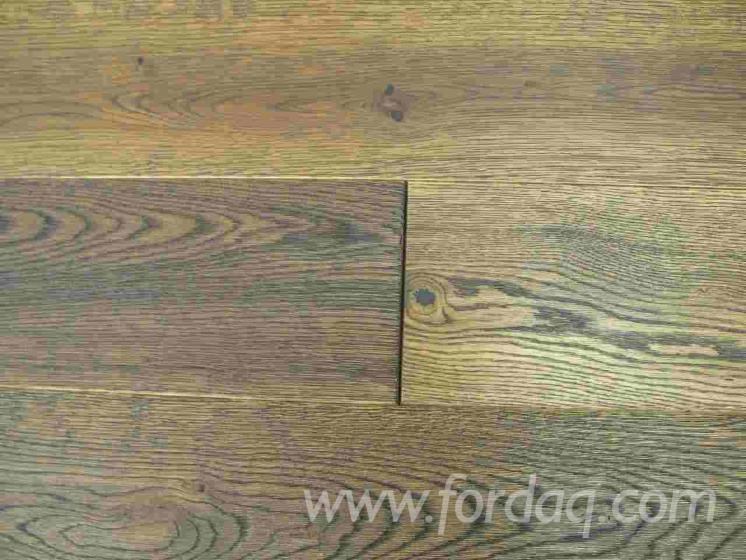Floorboard oak, solid, oiled, ANTIQUE TOSCANA 21x177x495-2495mm