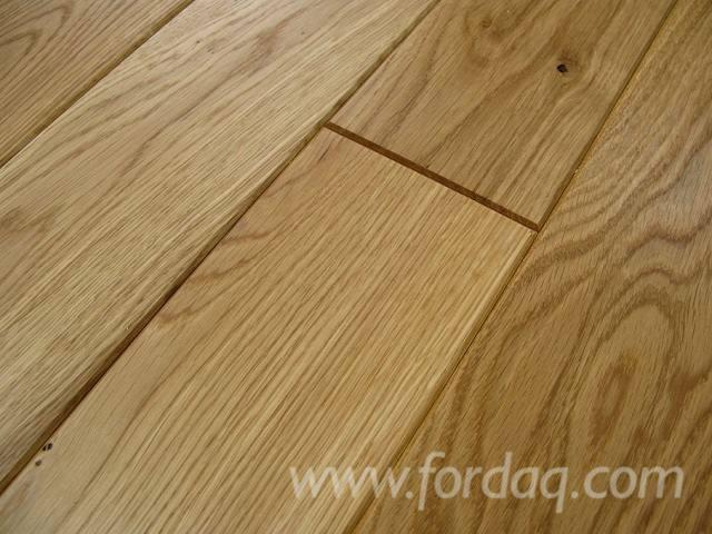 Oak Flooring, solid, oiled, ANTIQUE CLOVER 21x177x495-2495mm
