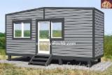Drvne Komponente, Ukrasi, Vrata I Prozori - Kuća Sa Drvenom Konstrukcijom, Bor  - Crveno Drvo