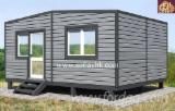 Wood Houses - Precut Timber Framing - 2 modular residential building , built-up area - 28.2 sq.m.