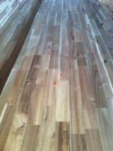 Solid Wood Components - Acacia wood finger joint board, worktops, benchtop, wood fj board, finger joint board