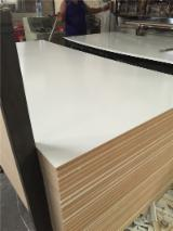 Melamine laminated MDF board, white color faced MDF