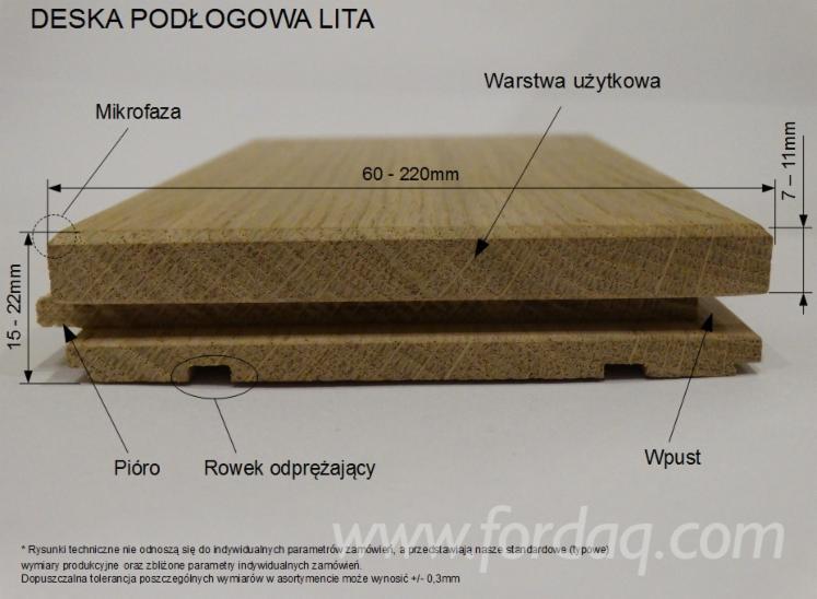 Floorboard oak, solid, oiled, RUSTIC PROVANCE, 21x97x595-1395mm