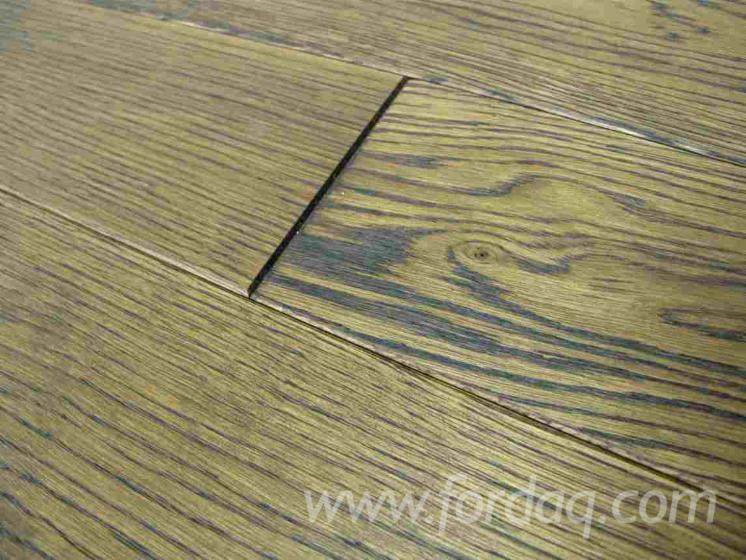 Floorboard oak, solid, oiled, RUSTIC TOSCANA, 21x97x595-1395mm