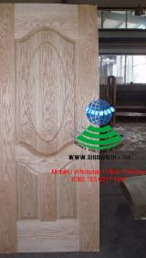 null - 3.0mm thickness red oak veneered HDF door skin