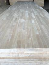 Panel Furniruit Asia - Vand Panou Din Lemn Masiv - 1 Strat Arbore De Cauciuc 12-15-18-20-22-26-29-30-33-40-45-56-85 mm
