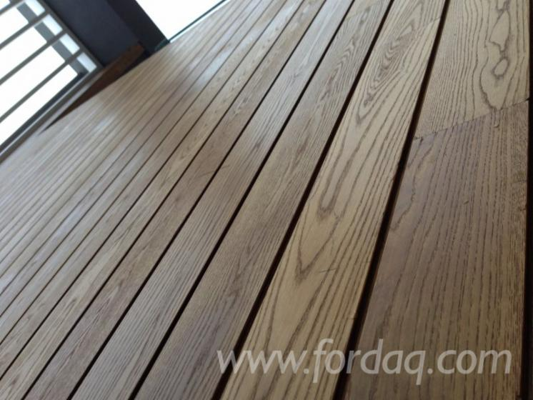 Exterior decking thermo wood ash for Exterior hardwood decking