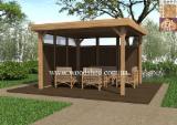 Buy Or Sell Wood Kiosk - Gazebo - Fir  Kiosk - Gazebo Ukraine