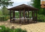 Gartenprodukte Ukraine - Tanne , Verkaufsstand - Gartenlaube
