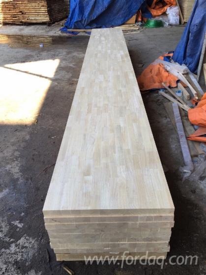 Joined Hardwood Laminated Board ~ Rubber wood hevea laminated panel