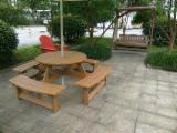 Garden Furniture - Plastic garden table, look like real wood, waterproof,will not rot or splinter