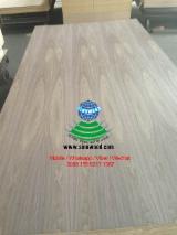 Natural and ev black walnut veneered mdf board